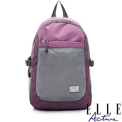 ELLE Active Fish Net 漁網系列-後背包-中-紫色