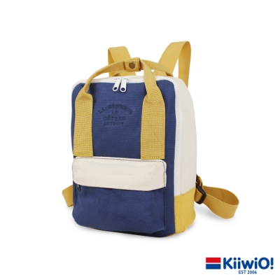 Kiiwi O! 輕便隨行系列帆布後背包 SALLY 黃x藍