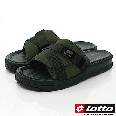 Lotto樂得-潮流運動拖鞋-SI 775 綠(男段)