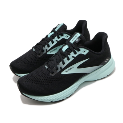 Brooks 慢跑鞋 Launch 8 D 寬楦 運動 女鞋 路跑 緩震 DNA科技 透氣 健身 球鞋 黑 綠 1203451D096