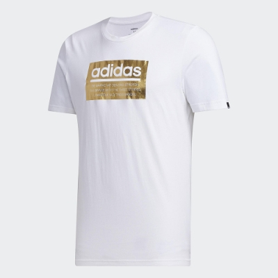 adidas 短袖上衣 運動 休閒 健身 訓練 男款 白 FM6259 FOIL BOX TEE