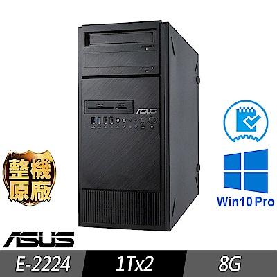 ASUS TS100-E10 伺服器 E-2224/8G/1TBx2/W10P