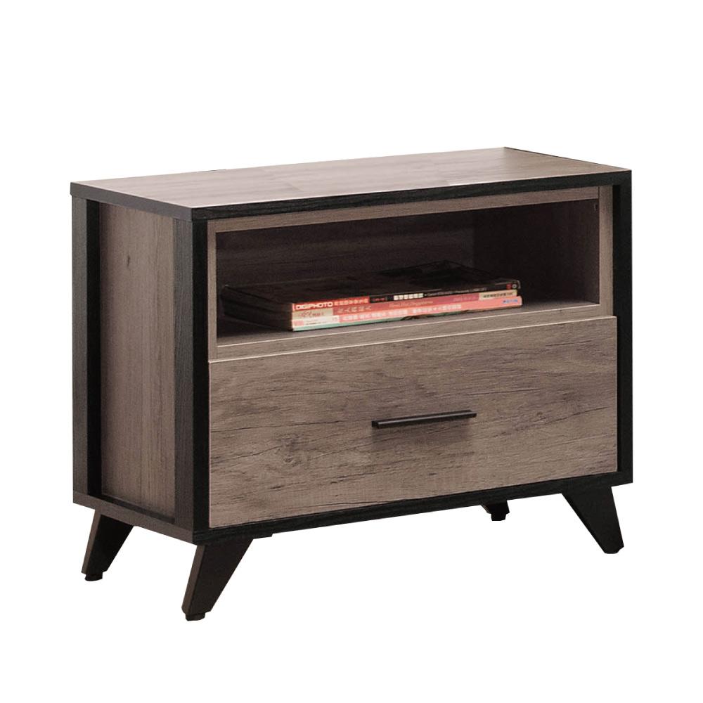 文創集 波可 時尚1.8尺木紋床頭櫃/收納櫃-54x40x49cm-免組