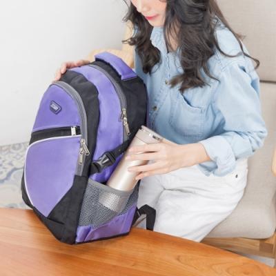 CHENSON 寬背帶系列 不勒肩膀後背包 紫(CG20512-3Q)