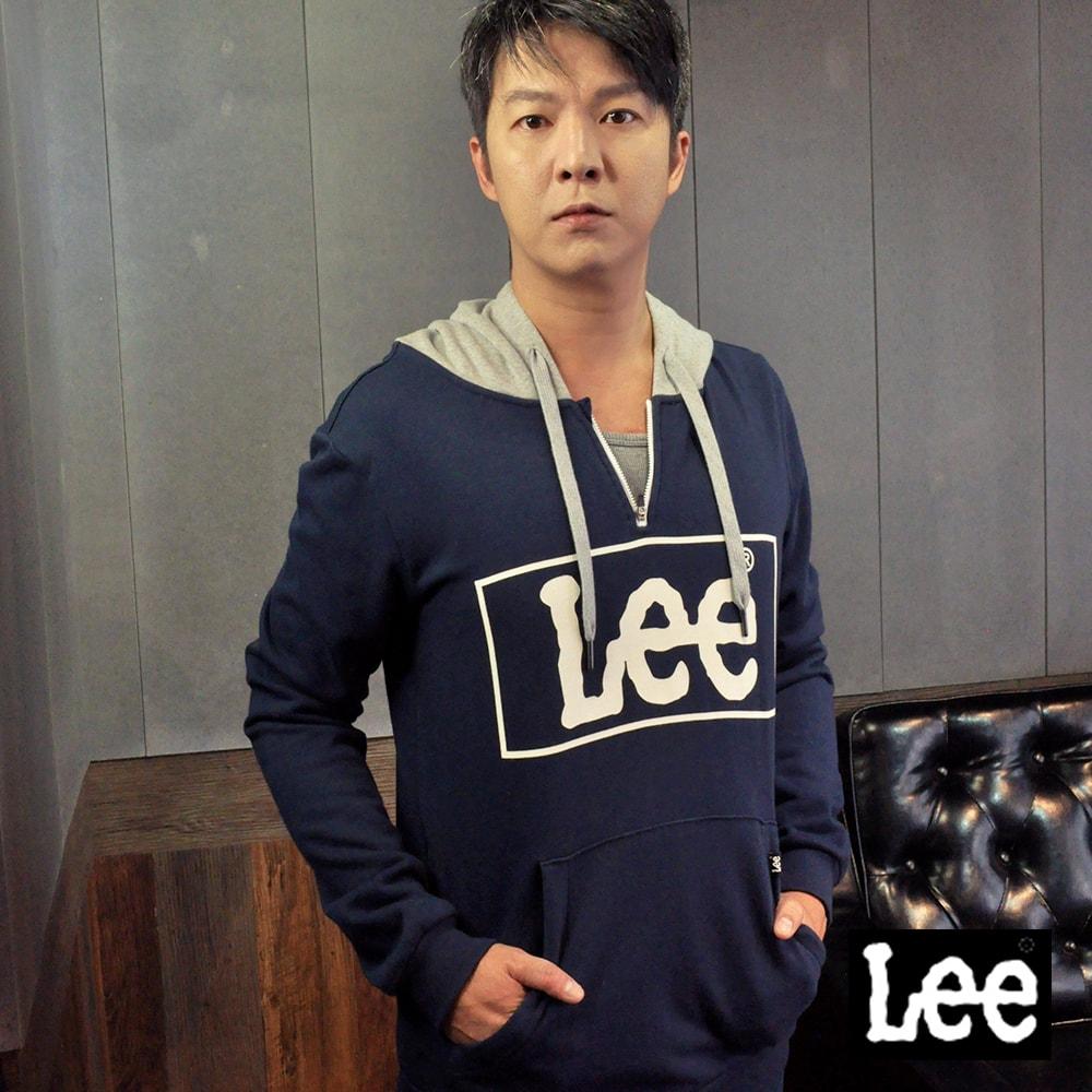 Lee 大框LOGO長袖連帽TEE恤/RG @ Y!購物