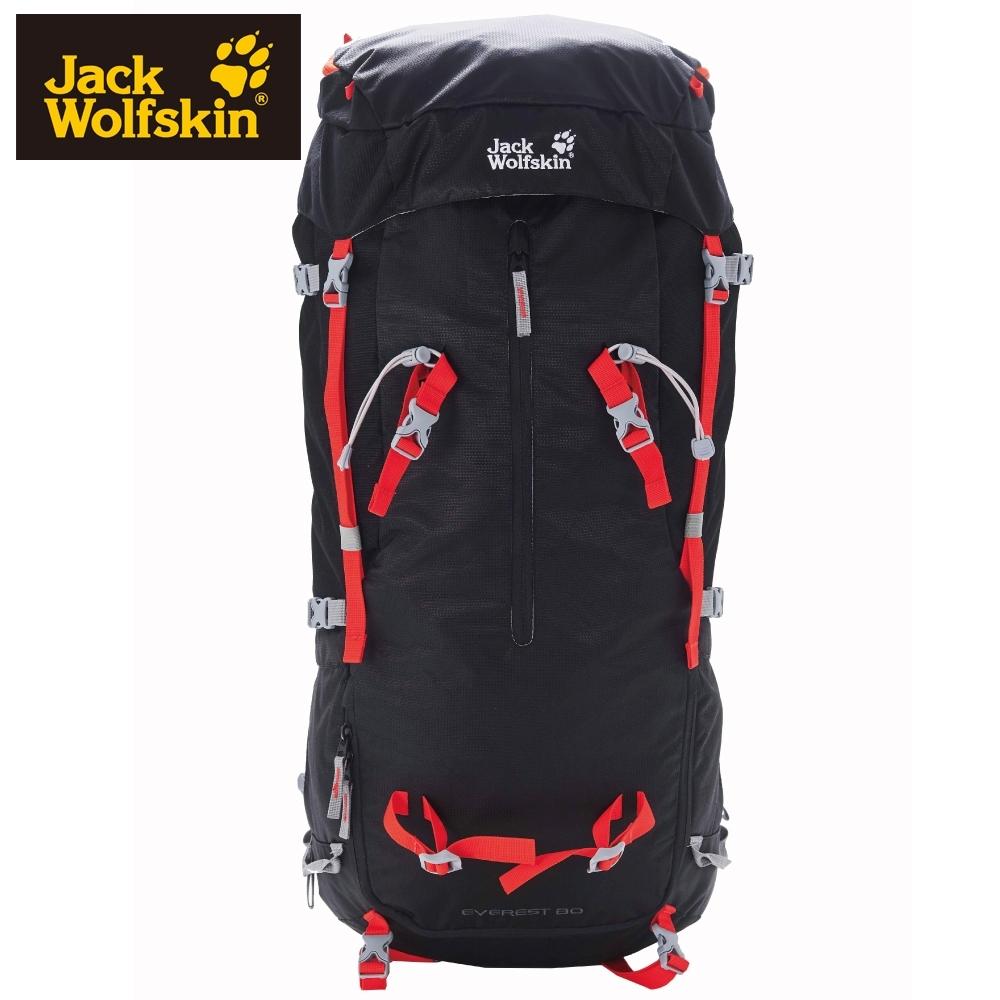 【Jack Wolfskin 飛狼】Everest 80L 登山背包 (頂蓋可當後背包)『黑色』