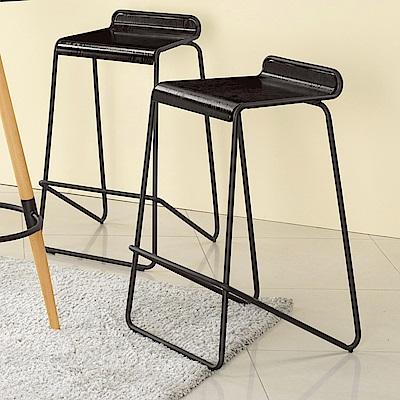 Bernice-洛德工業風吧台椅/高腳椅-二入-46x50x80cm