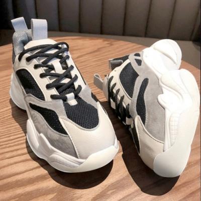 韓國KW美鞋館 (現貨+預購)-撞色百搭潮流款運動鞋-黑