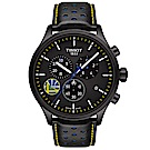 TISSOT天梭 Chrono XL系列 NBA勇士隊三眼計時手錶-45mm