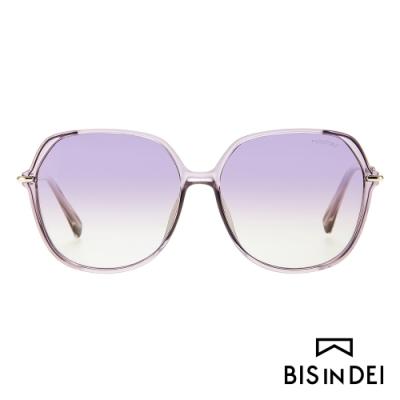 BIS IN DEI 巴黎女伶氣質框太陽眼鏡-紫