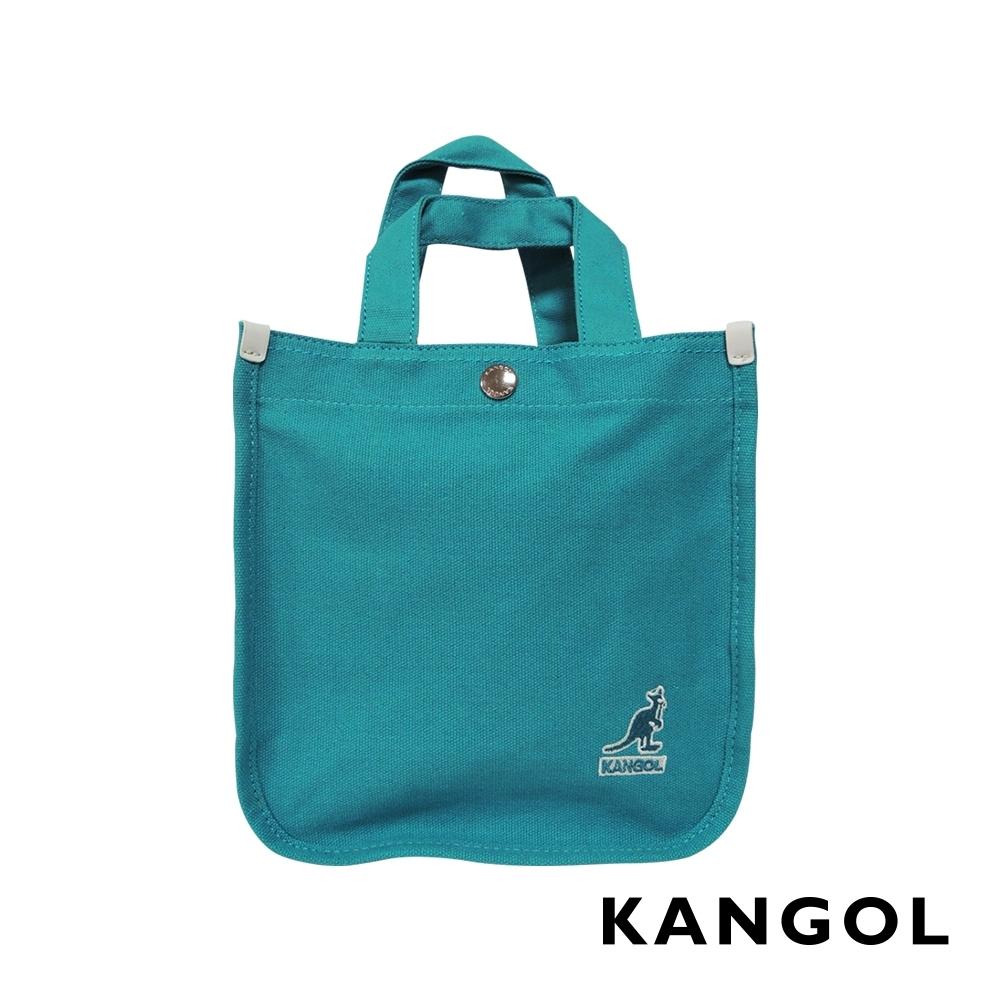 福利品 KANGOL 韓版極簡玩色-MINI帆布斜背小方包-青藍