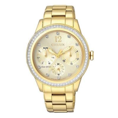 CITIZEN 星辰 L系列光動能時尚腕錶-金36mm(FD2012-52P)