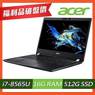 Acer TMP614-51-79YW 14吋商用筆電(i7-8565U/16G/512G SSD/黑/福利品)