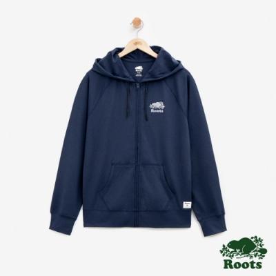 男裝Roots 羅飛奴機能連帽外套-藍