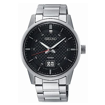 SEIKO 精工格紋風格時尚腕錶/6N76-00H0D/SUR269P1