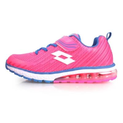LOTTO 男女童疾風KPU氣墊跑鞋-慢跑 路跑 童鞋 亮粉藍白