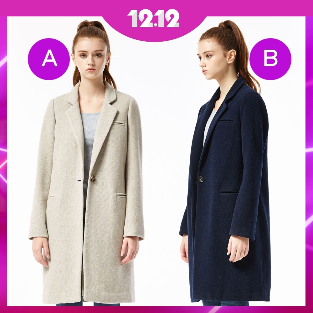 [時時樂限定]BRAPPERS 女款 毛料大衣 (四款選)