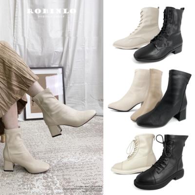 【時時樂限定】Robinlo 網美爆款襪靴 踝靴 馬汀靴限時狂降 (多款任選)