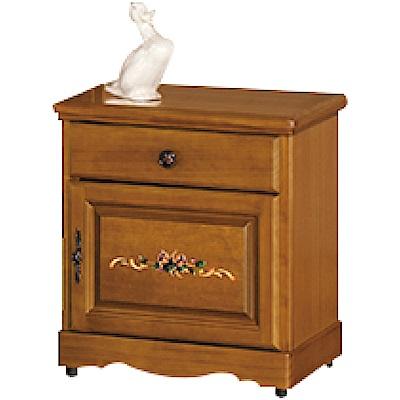 綠活居 麥爾利彩繪1.8尺實木床頭櫃/收納櫃-53x41x59cm免組