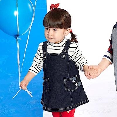 WHY AND 1/2 mini 牛仔吊帶裙 1Y~4Y