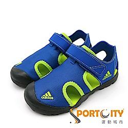 ADIDAS 大童涼鞋 CM7639 藍