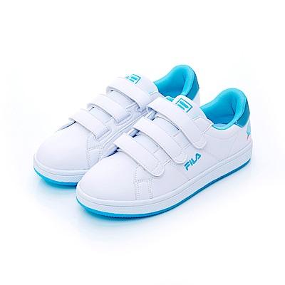 FILA  女潮流復古鞋-藍 5-C117T-300