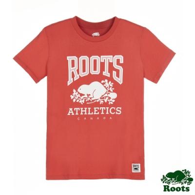 女裝Roots-RBA 短袖T恤-紅莓