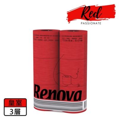 Renova 天然彩色皇室芳香捲筒衛生紙-熱情紅 1入x6捲x140節