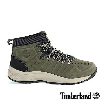 Timberland 男款FlyRoam Trail深綠色絨面真皮靴
