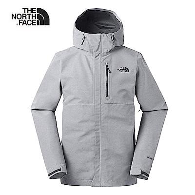The North Face北面男款灰色防水透氣衝鋒衣 3VR9DYY