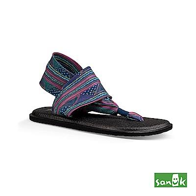 SANUK-YOGA SLING 2 印花瑜伽墊涼鞋-女款(粉藍色)