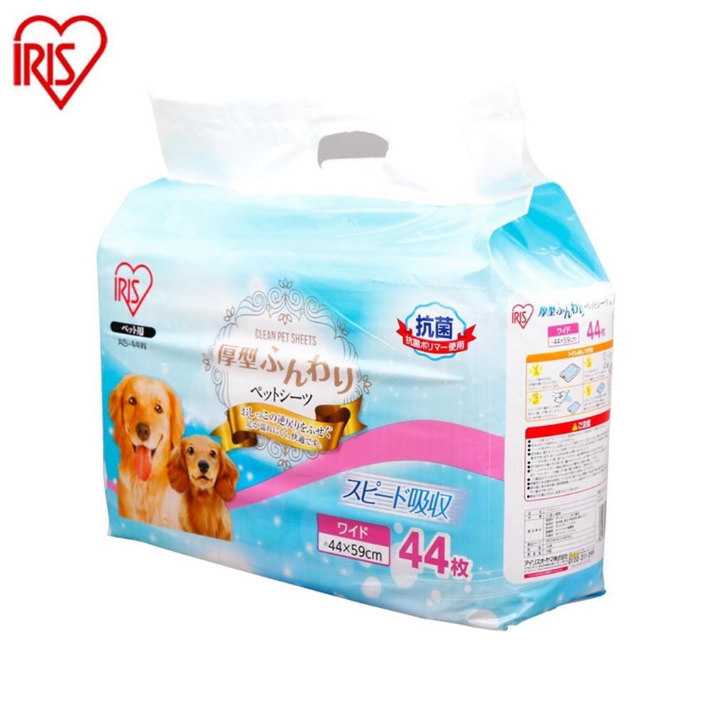 【IRIS】AS犬用厚型抗菌尿布 44片入 四包組