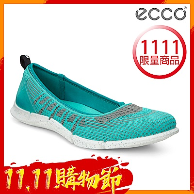 ECCO INTRINSIC KARMA 女輕量針織休閒運動鞋 女-綠