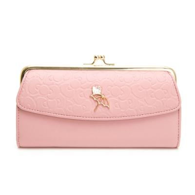 Hello Kitty聯名- 口金長夾 FRIENDLY系列-粉色