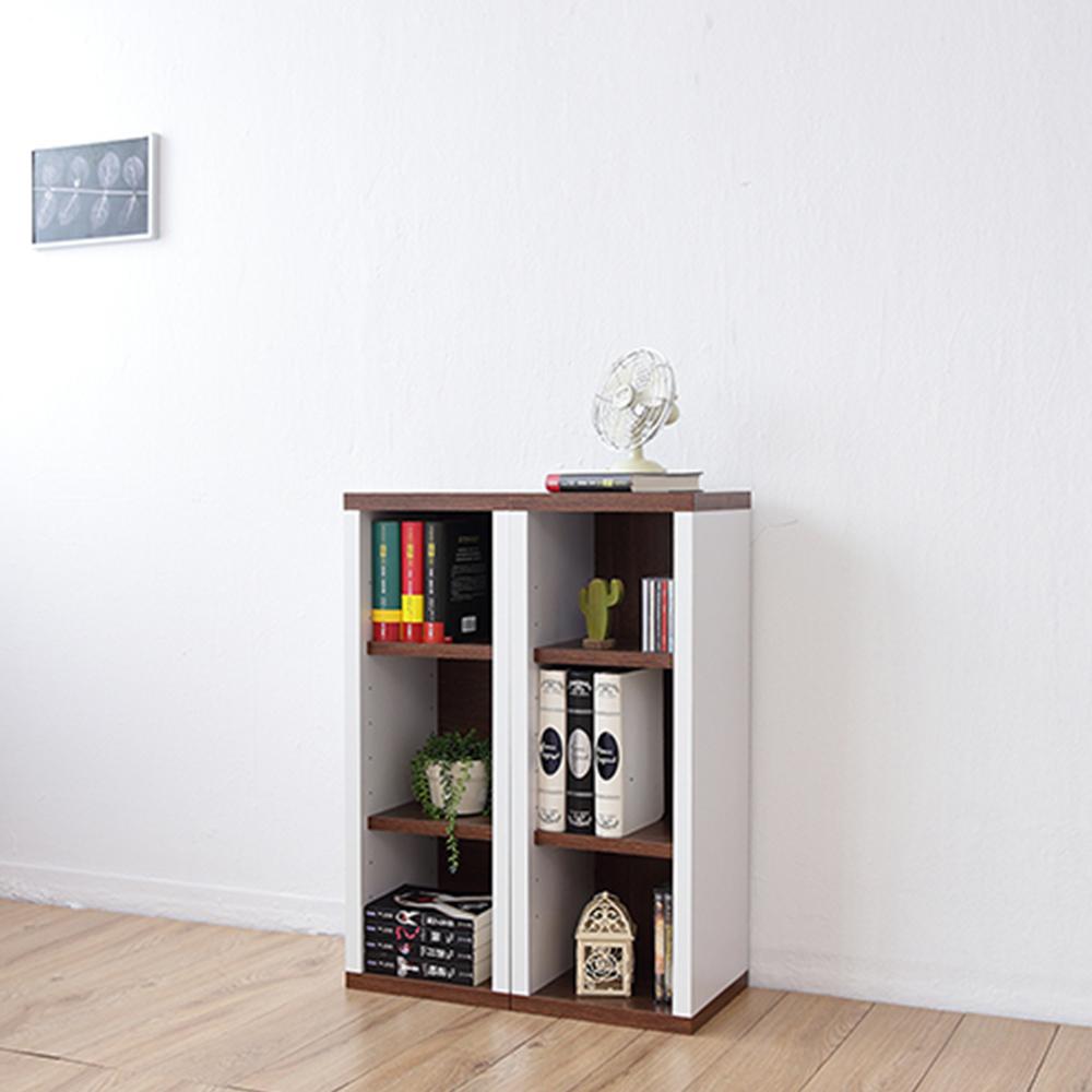 兩入一組《Accessco》日系雙色三格厚板收納書櫃(33x30x90cm)