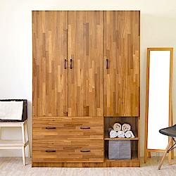 《HOPMA》DIY巧收工業風三門二格二抽衣櫥-寬120 x深50 x高179.5cm