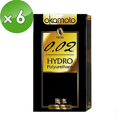 【岡本OK】002 Hydro水感勁薄保險套(6入X 6盒)
