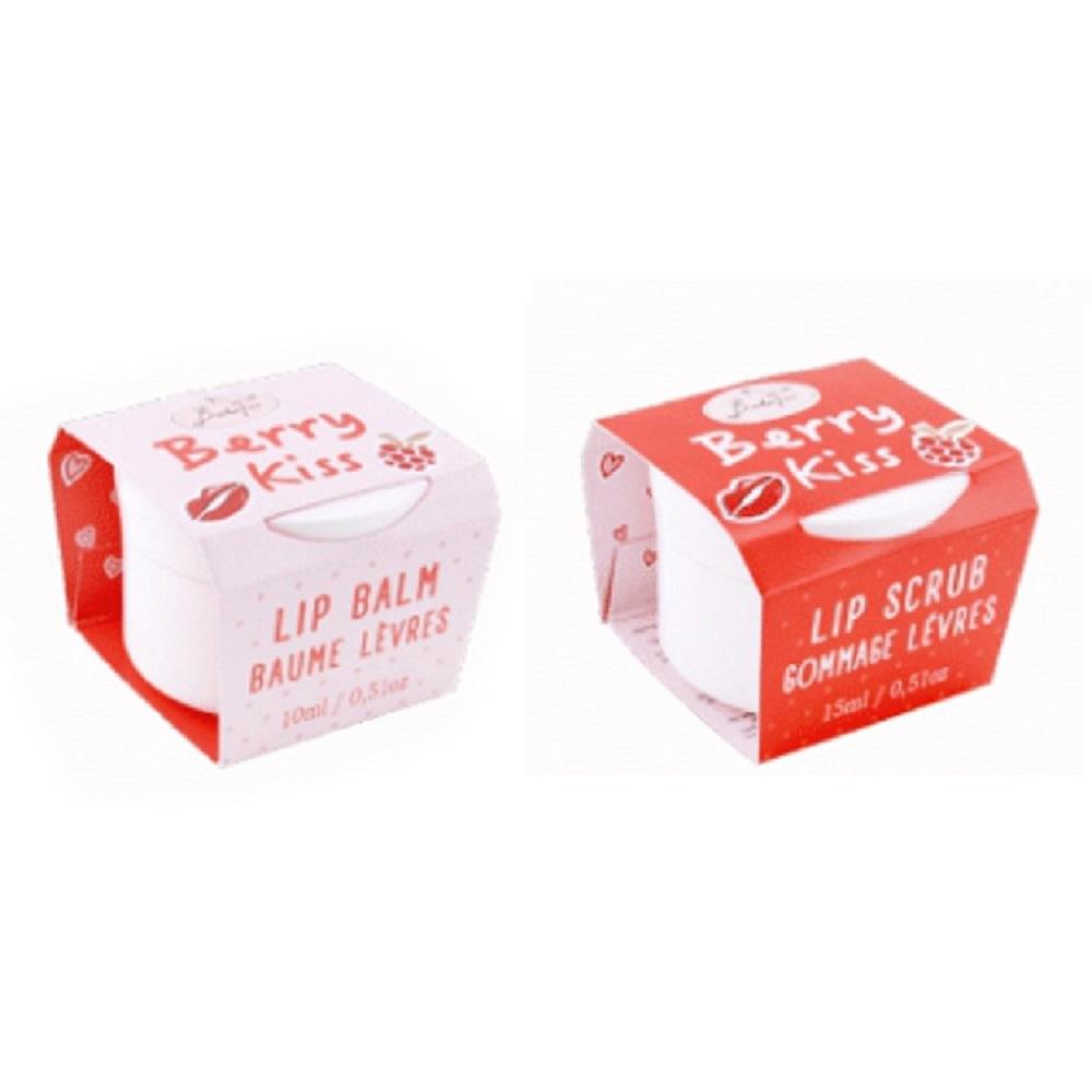 BadeFee 唇部保養組 - 親親野莓 (護唇膏10ml+磨砂膏15ml)