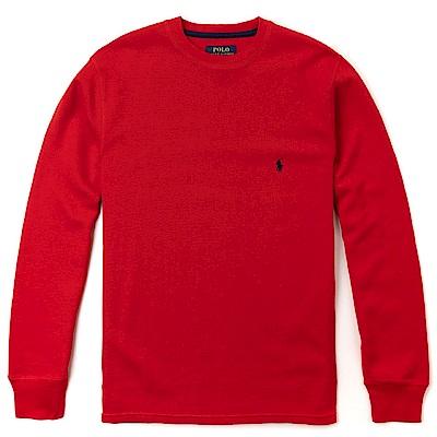 Polo Rlaph Lauren 經典刺繡小馬針織棉質毛衣-紅色