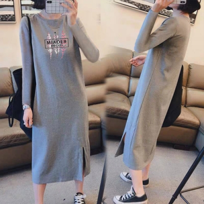 【KEITH-WILL】(預購)聖滿葉子時尚兼休閒洋裝(共1色)