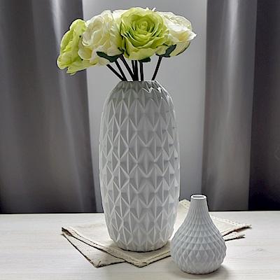 Meric Garden 北歐現代簡約創意陶瓷花瓶 (清雅白L)