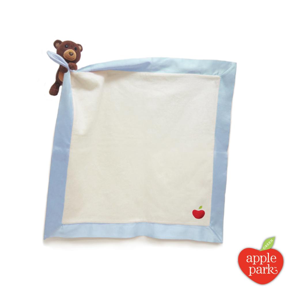 美國 Apple Park 有機棉玩偶隨身毯 - 小熊