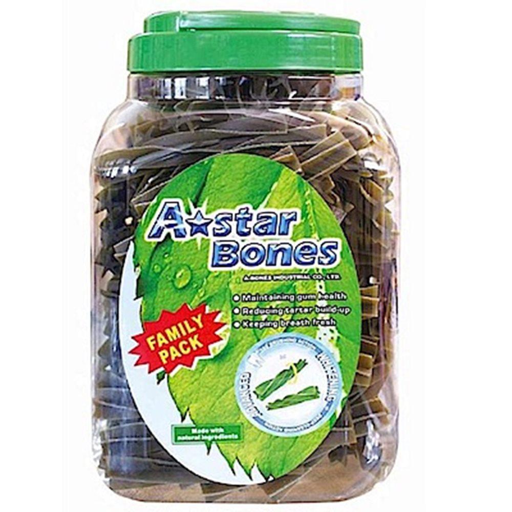 A star Bones 多效螺旋五星棒《綠色螺旋五星棒》潔牙骨 2000g 超大桶裝