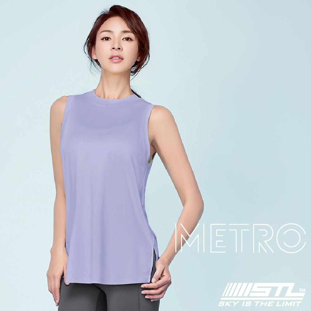 STL YOGA METRO SL 韓國瑜珈 地鐵Nashi 運動機能訓練無袖背心上衣 百合薰衣草紫