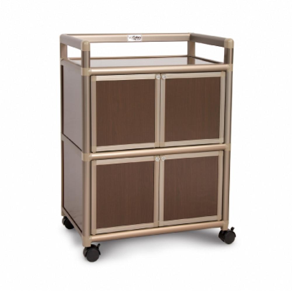 Cabini小飛象-黑桃木得意1.8尺鋁合金4門餐櫃-60.4x41.1x83.6cm