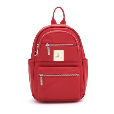 B.S.D.S冰山袋鼠-微醺小調x多口袋設計迷你後背包-薔薇紅