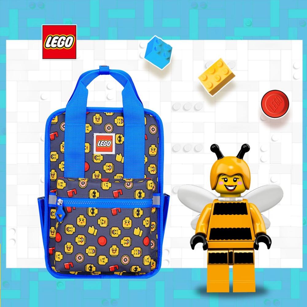 LEGO丹麥樂高歡樂小背包-積木表情符號藍色 20127-1933
