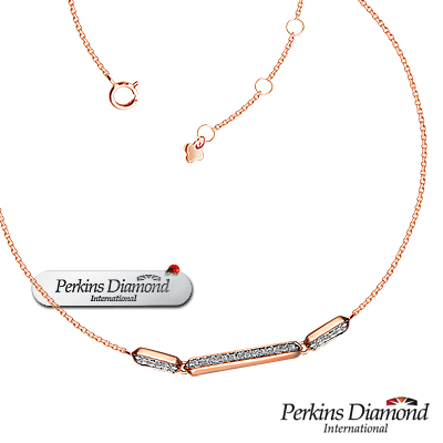 PERKINS 伯金仕 - Dance系列 14K玫瑰金鑽石項鍊
