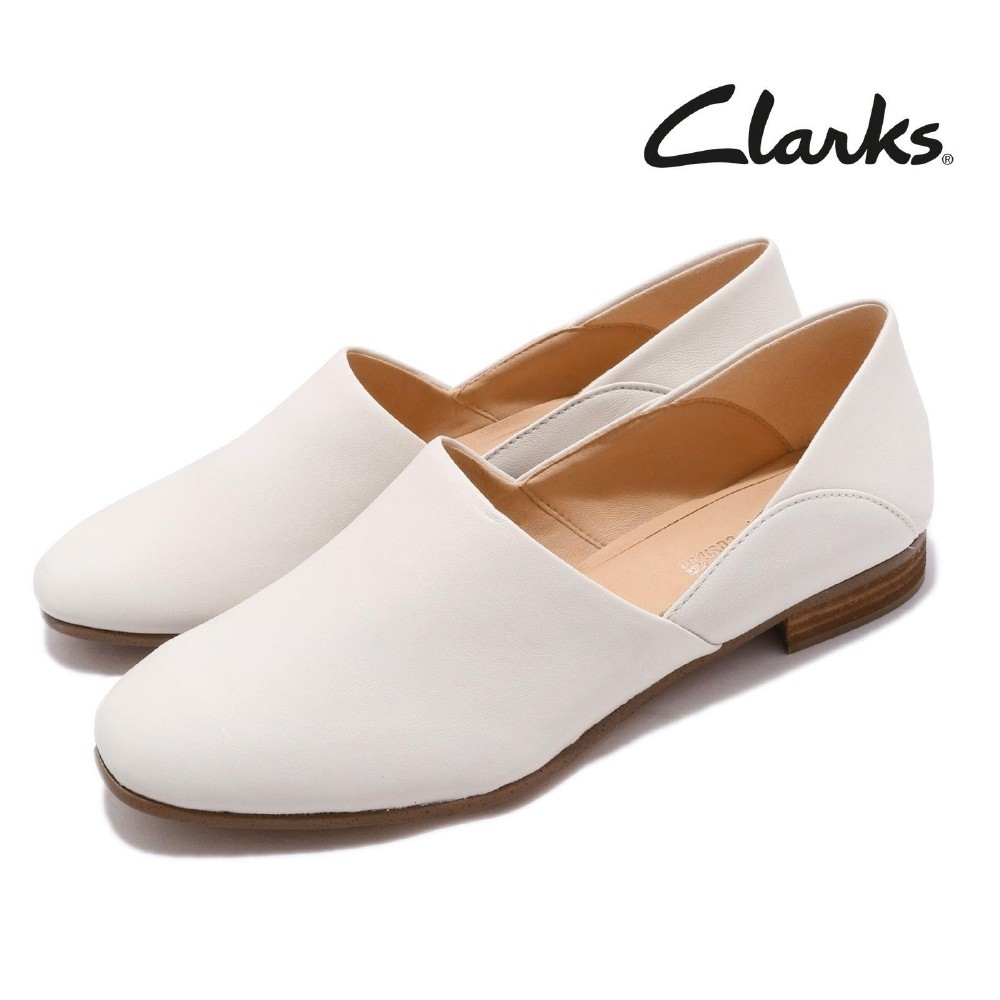 Clarks 低跟鞋 Pure Tone 真皮 皮革 女鞋
