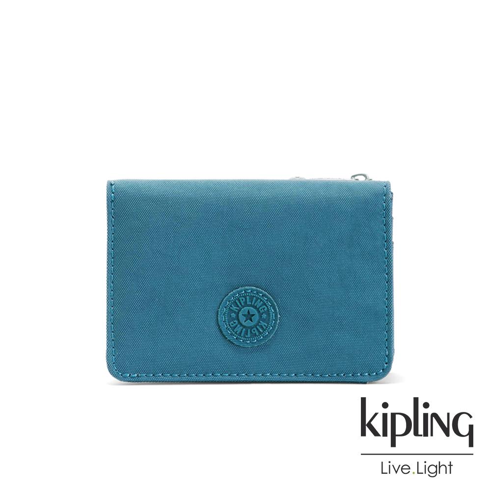 Kipling 靜謐藍綠色實用短夾-ALETHEA
